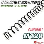 點一下即可放大預覽 -- M120 KUI  電槍升級 改裝專用彈簧 (台灣製造,預壓處理,不易軟化)