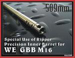 點一下即可放大預覽 -- 509mm~FALCON 戰隼 WE GBB M16 6.03 開膛專用精密管,內管,加長管,延長管