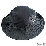 黑色~美軍圓邊帽,闊葉帽,漁夫帽,釣魚帽,遮陽帽,帽子,圓帽,擴邊帽