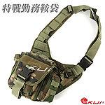 點一下即可放大預覽 -- 叢林迷彩~特戰勤務鞍袋,旅行包,單肩包,休閒包,斜背包