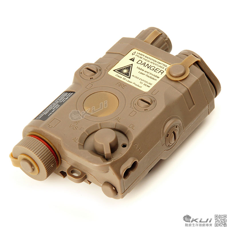 沙色~紅雷射版~類AN / PEQ15 電池盒