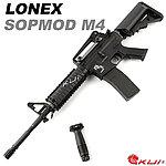 點一下即可放大預覽 -- LONEX 震隆 14.5吋 SOPMOD M4 AEG 電動槍,步槍,長槍(海豹托L4-08)