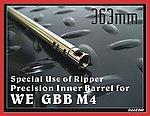 點一下即可放大預覽 -- 363mm~FALCON 戰隼 WE GBB M4 開膛專用精密管,內管,加長管,延長管