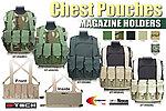 點一下即可放大預覽 -- OD綠~警星 G-Tech 軍警戰術裝備 胸掛式戰術背心式貼身彈匣袋,彈袋,彈夾袋,收納袋