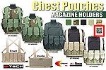 點一下即可放大預覽 -- 特價!ACU~警星 G-Tech 軍警戰術裝備 胸掛式戰術背心式貼身彈匣袋,彈袋,彈夾袋,收納袋