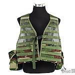 點一下即可放大預覽 -- 叢林迷彩~警星 軍警戰術裝備 M.O.D. II 戰術裝備背心式貼身袋(生存遊戲用,彈匣袋,裝備袋)