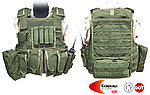 點一下即可放大預覽 -- L號 OD綠~警星 軍警戰術裝備 R. A. V. 戰術背心,抗彈背心