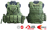點一下即可放大預覽 -- OD綠~警星 軍警戰術裝備 Force Recon 戰術裝備背心式貼身袋,抗彈背心