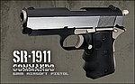 """點一下即可放大預覽 -- 拋光版~SRC SR-1911 Commando 3.8"""" 全金屬自動退膛瓦斯槍,手槍,BB槍(GB-0738)"""