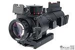 夜視機械瞄 4X32 四倍小海螺內紅點快瞄鏡(紅綠藍三段光+戰術魚骨)