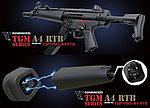 特價!【展示品出清特惠$7500】怪怪 G&G PM5 TGM A4 MP5 伸縮托電動槍(贈護木*2、充電器),電槍(TGP-PM5-A4R-BBB-NCM)