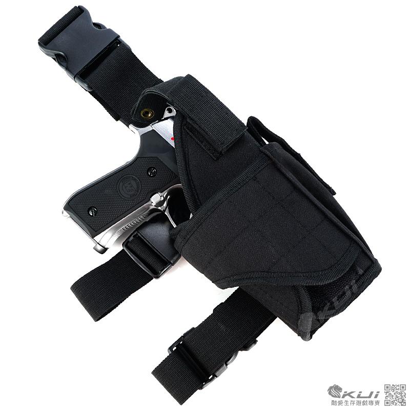 限量優惠!黑色~龍捲風~腿掛槍套~瓦斯槍套,玩具槍套,BB槍套,CO2槍套,槍袋,收納袋~生存遊戲任何款式手槍專用