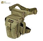 點一下即可放大預覽 -- TAN狼棕色~KUI 機動腰包,多功能腰腿包,收納袋,雜物包,工具袋,腰腿掛包(登山、戶外、釣魚)