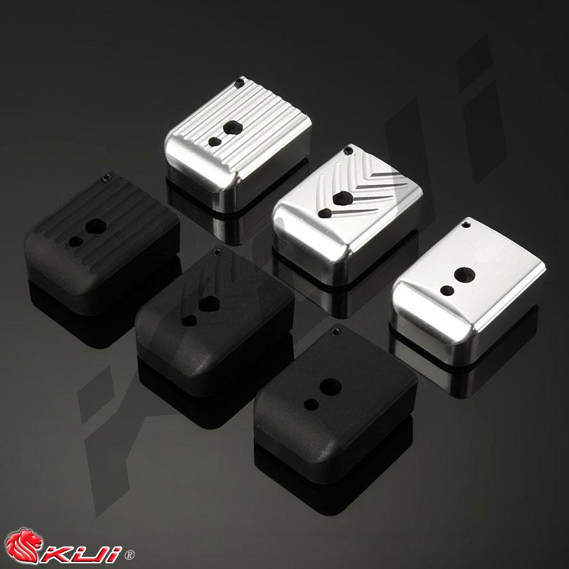 黑色斜纹~kui hi-capa ipsc 铝合金电镀弹匣底板(marui we 通用)