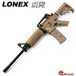 點一下即可放大預覽 -- LONEX 震隆 沙色 16吋 M4A1 AEG 電動槍,步槍,長槍(L4-03T)