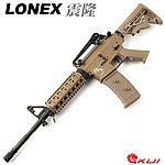 點一下即可放大預覽 -- LONEX 震隆 14.5吋 沙色 M4 RIS AEG 電動槍,步槍,長槍(L4-05T)