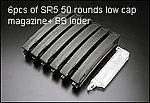 點一下即可放大預覽 -- 6支裝~SRC MP5 金屬無聲彈匣(50發)~送填彈器(SR5-50)
