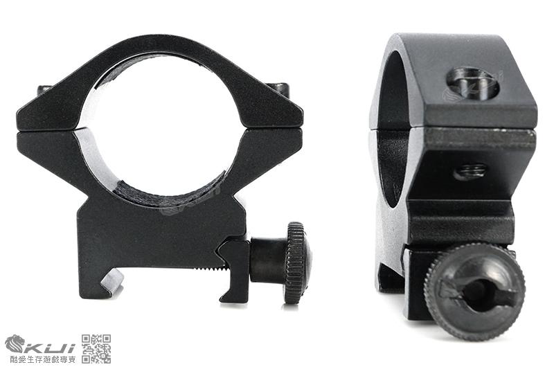 25.4mm 低寬軌夾具(槍燈,狙擊鏡用)(一對 2個)