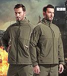 點一下即可放大預覽 -- L號 軍綠色~TAD V5 指揮官鯊魚皮殼外套,風衣,衝鋒衣