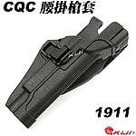 點一下即可放大預覽 -- 黑色~LV3 SERPA 1911 CQC 硬殼腰掛槍套,快拔槍套(兩段式開關)