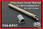 點一下即可放大預覽 -- 112.5mm~FALCON 戰隼 KJ KP07 / KP08 / 1911 6.03 精密管,內管,加長管,延長管