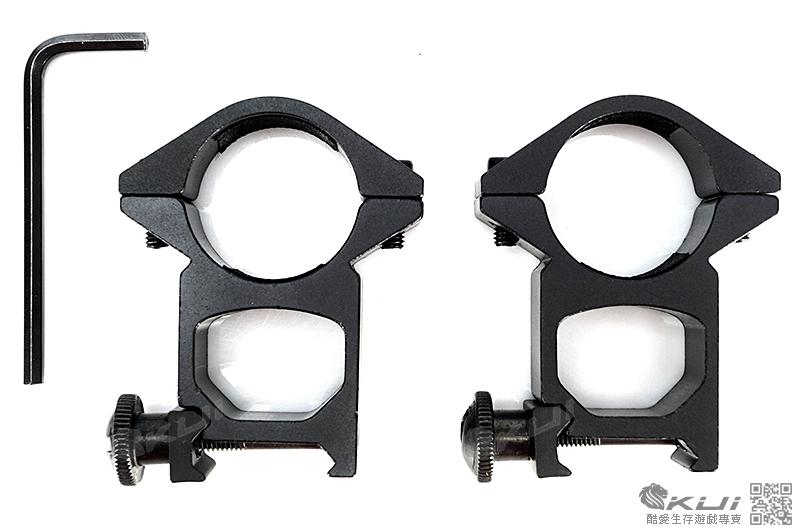 25mm高寬軌夾具(槍燈,狙擊鏡用)(一對 2個)