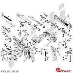 點一下即可放大預覽 -- KSC 貝瑞塔 M93R II SYSTEM 7 衝鋒槍 爆炸圖