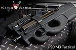 點一下即可放大預覽 -- 【展示品出清特惠$4999 】新版 King Arms P90 M3 Tactical 電動槍(尼龍槍身,9mm 滾珠培林,MOSFET 電子電閘)