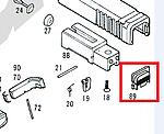 點一下即可放大預覽 -- KSC G17 滑套底板(零件#89)