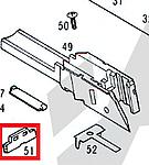 點一下即可放大預覽 -- KSC G17 滑套卡楯 (零件#51)