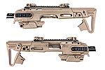 點一下即可放大預覽 -- 沙色~CAA 真槍廠授權 RONI G1 Carbine Kit 戰術衝鋒槍套件 (G17 G18C G19 G23F / MARUI KSC VFC WE)