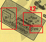 點一下即可放大預覽 -- KSC USP.45 Match 抑制器(零件編號#291+#292+293X2+#294X2)