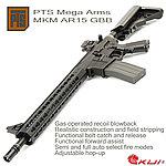 KWA/KSC PTS Mega Arms MKM AR15 GBB Rifle 全金屬瓦斯氣動槍
