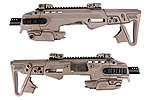 點一下即可放大預覽 -- 沙色~CAA 正廠真槍廠授權刻字 RONI P226 Carbine Kit 戰術衝鋒槍套件(MARUI KJ WE)