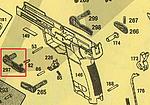 點一下即可放大預覽 -- KSC USP.45 Match 滑套復位桿(零件編號#297)