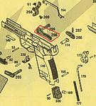 點一下即可放大預覽 -- KSC USP.45 Match 滑套右側復位桿(零件編號#298)