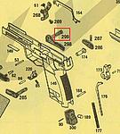 點一下即可放大預覽 -- KSC USP.45 Match 滑套復位桿螺絲(#299)