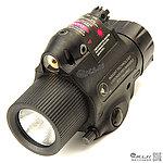 【展示品出清特惠$1050 】黑色~M6X 外紅點戰術槍燈(LED白光+紅外線)~附老鼠尾開關