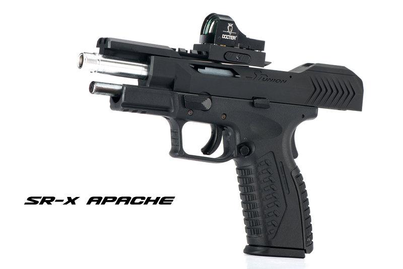 限量優惠!霧黑滑套版~SRU SR X APACHE XDM 瓦斯槍,手槍(附硬式保護槍箱)