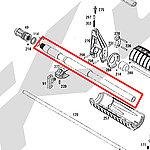 點一下即可放大預覽 -- KWA M4A1 電槍外管 (零件編號#286號)