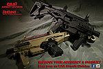 點一下即可放大預覽 -- 沙色~CAA 正廠真槍廠授權刻字 RONI-B 貝瑞塔 M9 Carbine Kit 戰術衝鋒槍套件(FOR M9 M9A1)