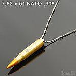 點一下即可放大預覽 -- 7.62 x 51 NATO .308 金屬裝飾彈項鍊(1顆)