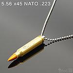 點一下即可放大預覽 -- 5.56 x 45 NATO .223 金屬裝飾彈項鍊(1顆)