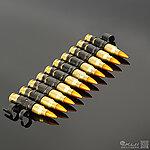 點一下即可放大預覽 -- 正美製 5.56 x 45 NATO 金屬裝飾彈鏈,裝飾子彈鏈(12顆)