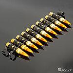 點一下即可放大預覽 -- 正美製 7.62 x 51 NATO .308 金屬裝飾彈鏈,子彈鏈(12顆)
