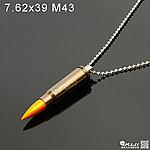 點一下即可放大預覽 -- 橄欖綠色~7.62x39 M43 金屬裝飾彈項鍊(1顆)
