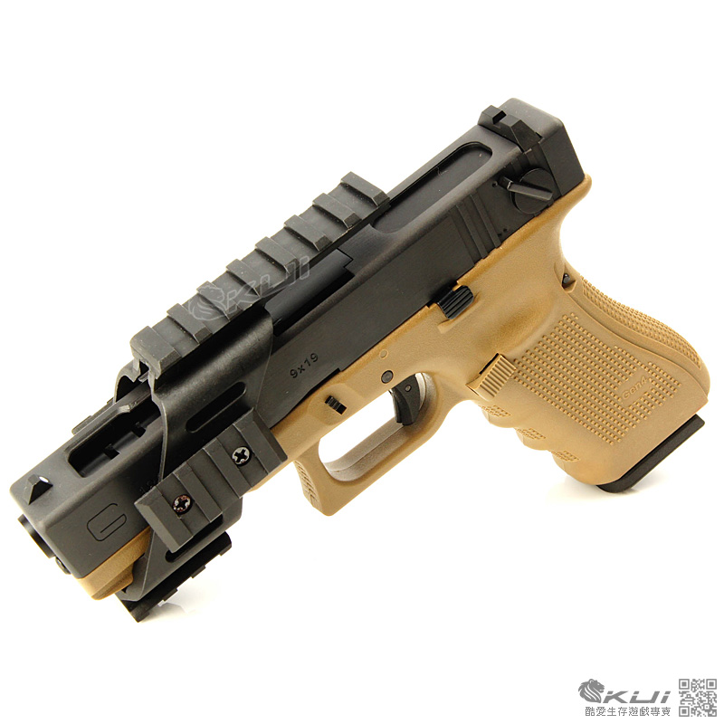 強化纖維~20mm寬軌通用型 手槍魚骨鏡橋(HI-CAPA,M9A1,克拉克 通用)