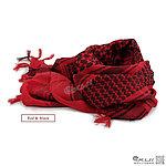 點一下即可放大預覽 -- 紅黑色~高品質 100%純棉版 野戰用阿拉伯方巾,恐怖份子、歹徒圍巾,化妝舞會,道具