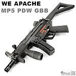點一下即可放大預覽 -- 特價!WE APACHE 阿帕契 MP5 PDW GBB 全金屬瓦斯氣動槍