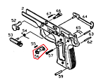 點一下即可放大預覽 -- KJ M9A1 金屬彈夾卡榫(#56)